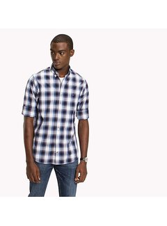Tommy Hilfiger Slim Poplin check button-down