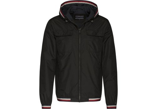 Tommy Hilfiger Hooded Nylon Tape Jacket