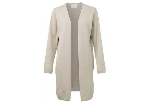 YAYA CARDIGAN WITH THICK SEAMS AND SLITS ON CUFFS