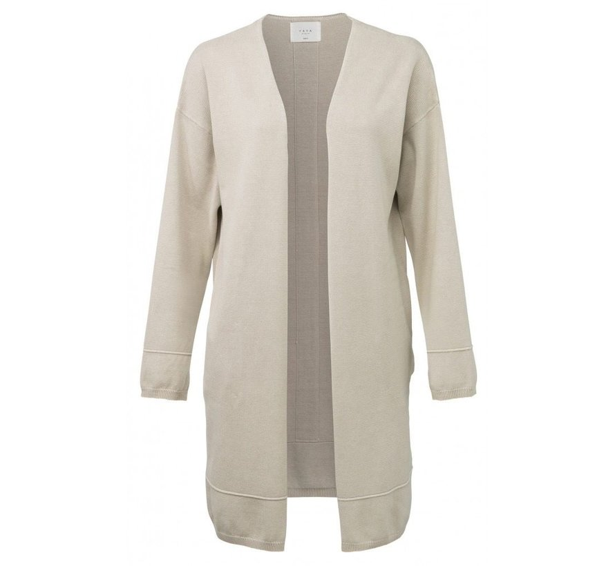 CARDIGAN WITH THICK SEAMS AND SLITS ON CUFFS