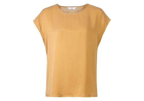 YAYA CUPRO TOP WITH LACE INSERT AT BACK