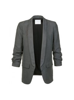 YAYA CUPRO LINEN BLAZER WITH DRAPE SLEEVES