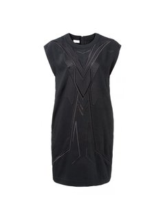 YAYA DRESS WITH EMBROIDERY AND ZIPPER IN NECK