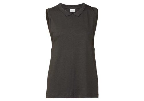YAYA Sleeveless tee w. Shirt collar
