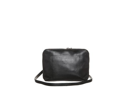 Sandqvist ANNA w/ silver zipper, Black