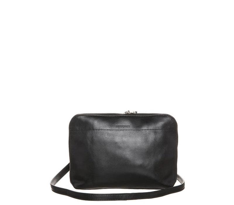 ANNA w/ silver zipper, Black