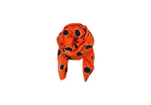 Black Colour HAYLEY scarf dot-orange