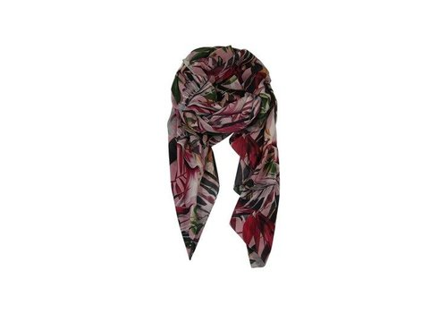 Black Colour ACAPULCO scarf-rose