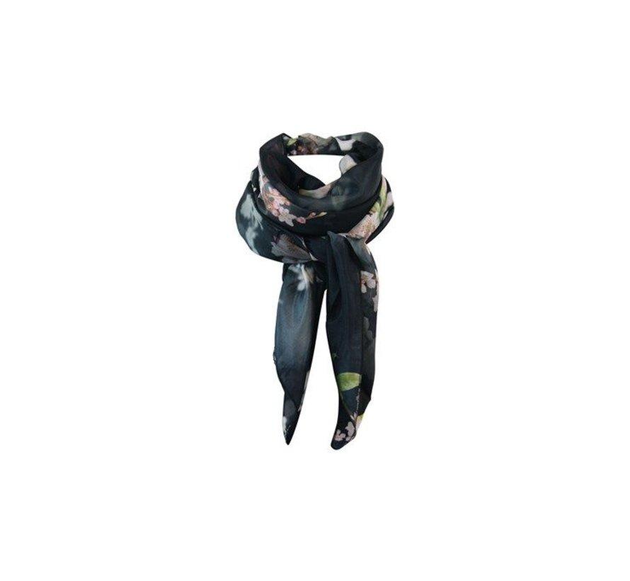 CABANA silky big scarf-black