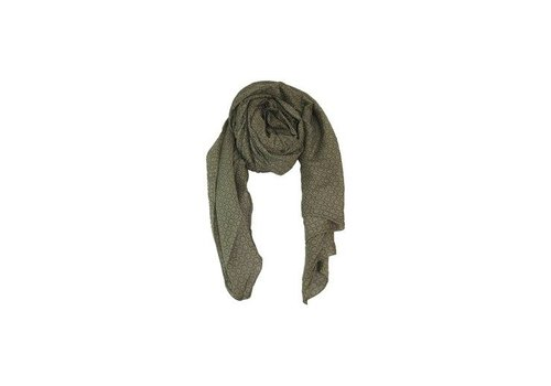 Black Colour KARLA scarf-olive