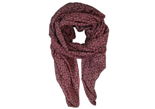 Black Colour FROST scarf-marsala