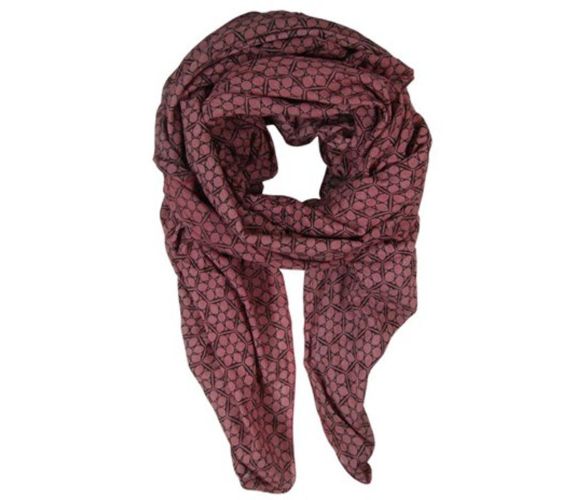 FROST scarf-marsala