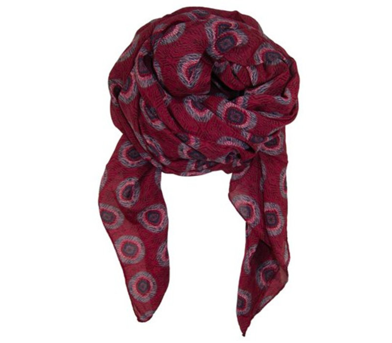 ALBA scarf-wine