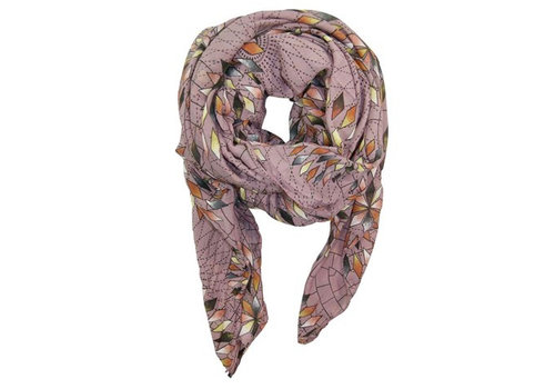 Black Colour COLUMBINE scarf-lavender