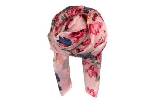 Black Colour BLOOM scarf-rose