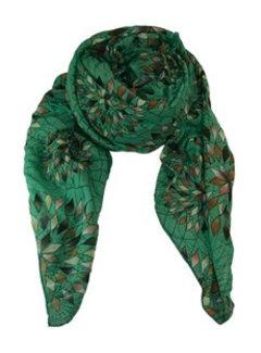 Black Colour COLUMBINE scarf-green