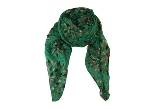 Black Colour COLUMBINE scarf-green