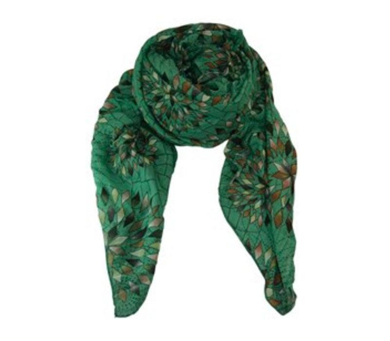 COLUMBINE scarf-green