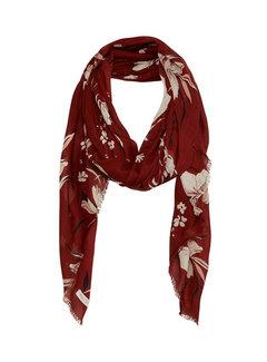 Part Two Brixton scarf-Artwork Dark Red