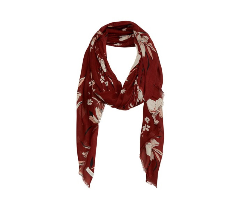 Brixton scarf-Artwork Dark Red