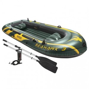 Intex Seahawk 3 Rubberboot Set incl. Peddels + Pomp