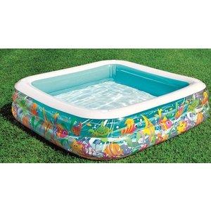 Intex Opblaadzwembad met Zonnedak 157 x 157 cm