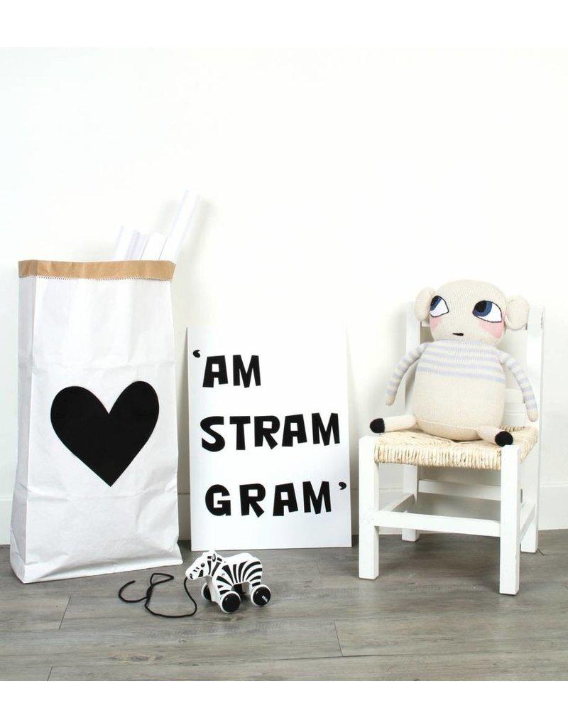 paperbags black white. Black Bedroom Furniture Sets. Home Design Ideas
