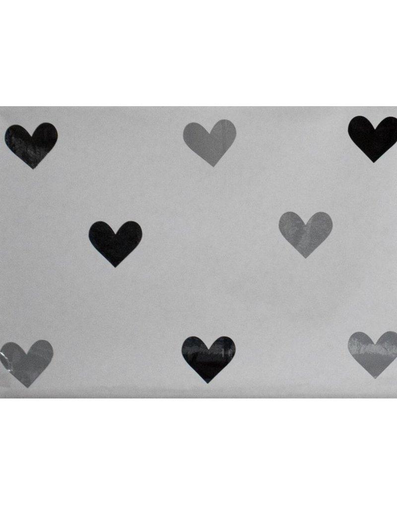 paperbag met grijs en zwarte hartjes. Black Bedroom Furniture Sets. Home Design Ideas