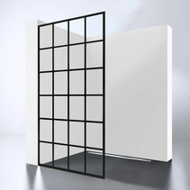 "BD Inloopdouche Walk-In ""Black-900-Screen"" 900x2000x10mm"