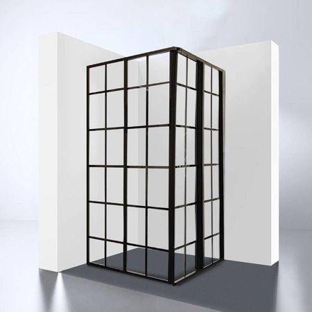 """Best Design BD """"Black-Corner"""" Douche Hoekinstap 990x990x1900x4mm"""