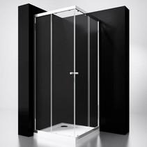 "BD ""Project"" Douche Hoekinstap 80x80x190cm glas 5mm"