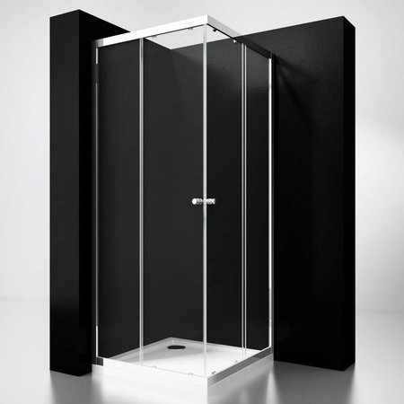 "Best Design BD ""Project"" Douche Hoekinstap 80x80x190cm glas 5mm"