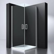 "BD ""ERICO"" vierkante cabine m.2 deuren 90x90x192cm NANO glas 6mm"