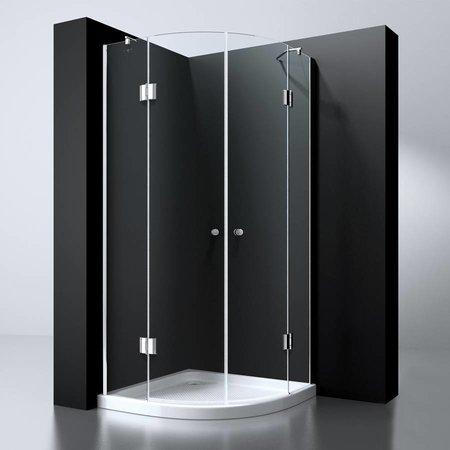 """Best Design BD """"ERICO"""" 1/4 rond cabine m.2 deuren 100x100x192cm NANO glas 8mm"""