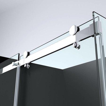 "Best Design BD ""ERICO"" schuifdeur & wand 90x117-118,5x200cm NANO glas 8mm"