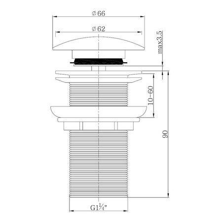 "Best Design Clic-Waste Lange-Draad 5/4"""