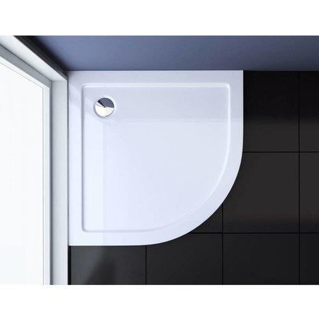 """Best Design """"MINO"""" Lage-douchebak 1/4 rond 80x80x4 cm R=550"""
