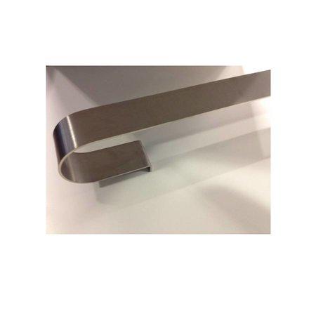 """Best Design RVS halve handdoekbeugel 400mm voor """"Plati-enkel"""" radiator"""