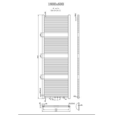 "Best Design Radiator ""Zero"" 1800x600mm"