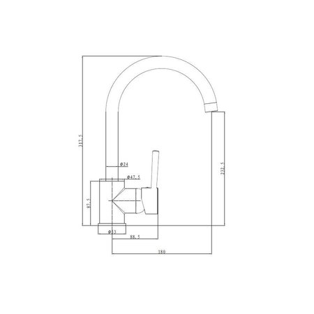 "Best Design ""SON"" Keukenmengkraan H=32 cm"