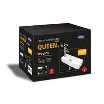 """One Pack"" Fonteincombinatie ""Queen links"" RVS-look"