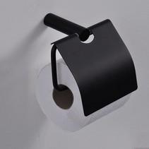 Ida toiletrolhouder met klep zwart