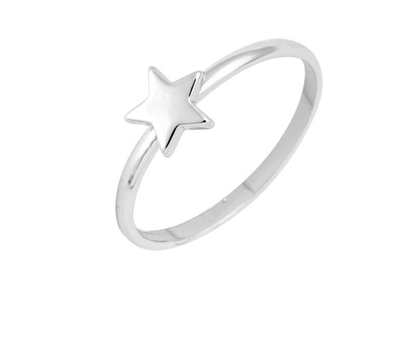 Lovelymusthaves Ster star hippe minimalistische ring  zilver/goud/rose