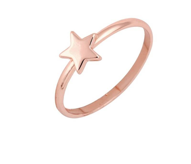 Lovelymusthaves Star star hip minimalist ring