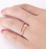 Joboly Pijl arrow boho bohemian style verstelbare ring