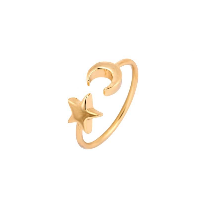 Joboly Moon star moon star boho bohemian style adjustable ring
