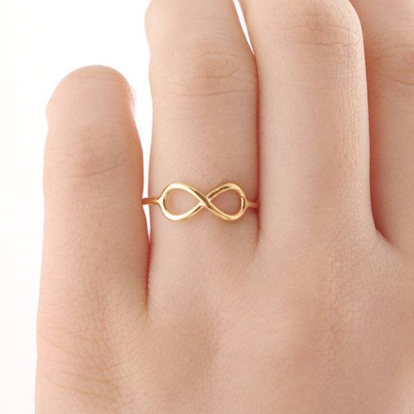 Lovelymusthaves Infinity eindeloos oneindig subtiele ring zilver/goud/rose