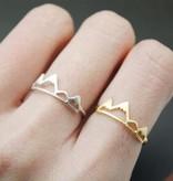 Lovelymusthaves Berg mountain trendy verstelbare ring
