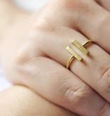 Lovelymusthaves Double bar minimalist ring adjustable