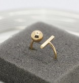 Lovelymusthaves Bar minimalistic ring adjustable